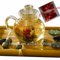 Free shipping Chinese blooming flower tea balls in Gift vaccum foil bag packing