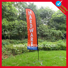 Red weatherproof flying banner