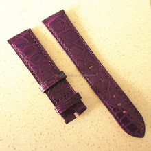 2.0mm thin croco leather watch strap cheap