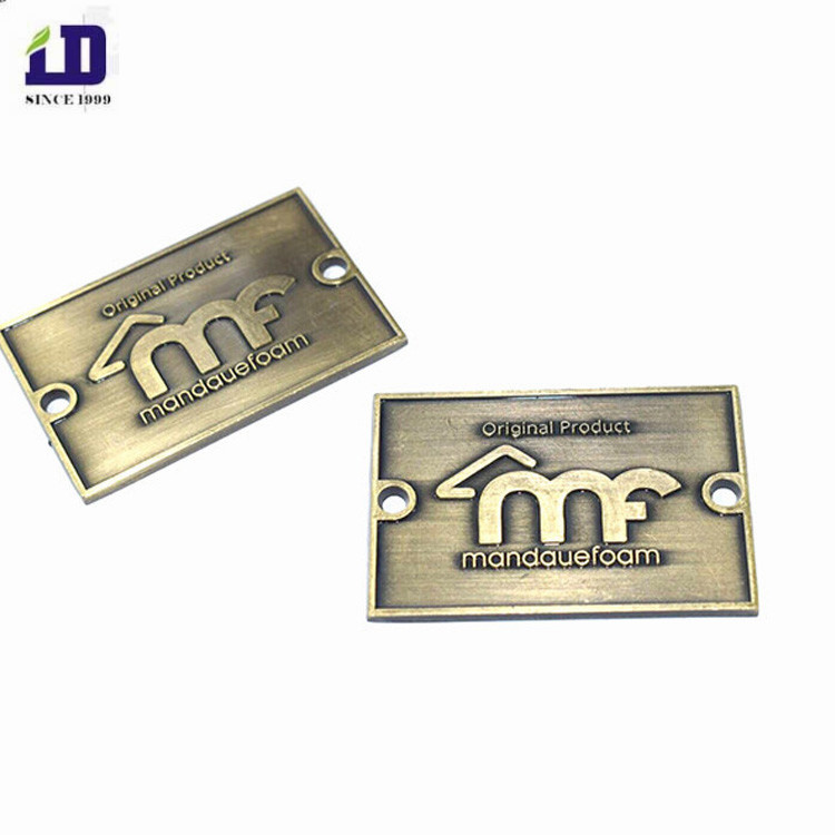 Best adhesive metal plate with company logo /Embossed brass plate