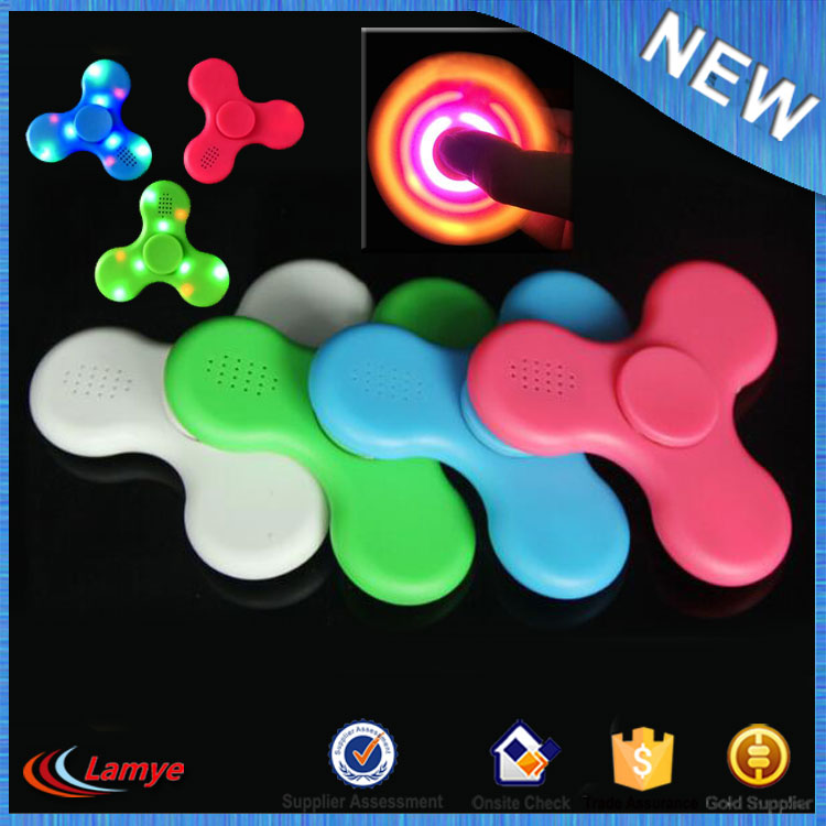 Crazy Finger Spinner Amazon Hot Gadgets Metal Handspinner Built In Bluetooth Speaker Fidget Spinner LED Toys