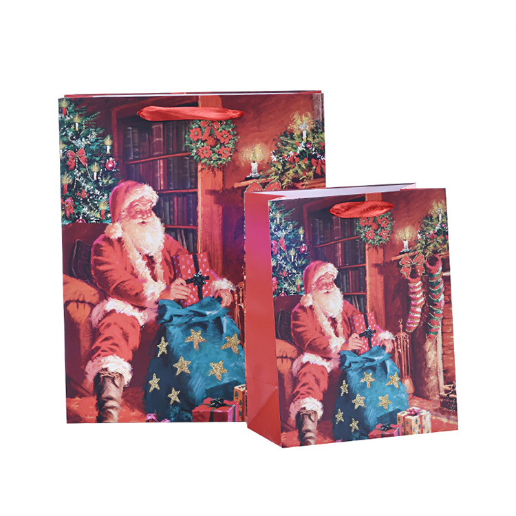 spot good high quality unique Christmas shopping paper gift bag in good <strong>material</strong>