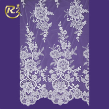 LF-59R1 Hand Embroidery Design Wedding Dress For Evening Raschel Lace Fabric