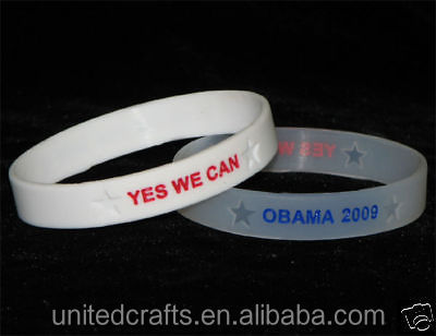 PRESIDENT OBAMA WRISTBANDS CUSTOM SILICONE RUBBER BRACELETS GIFT