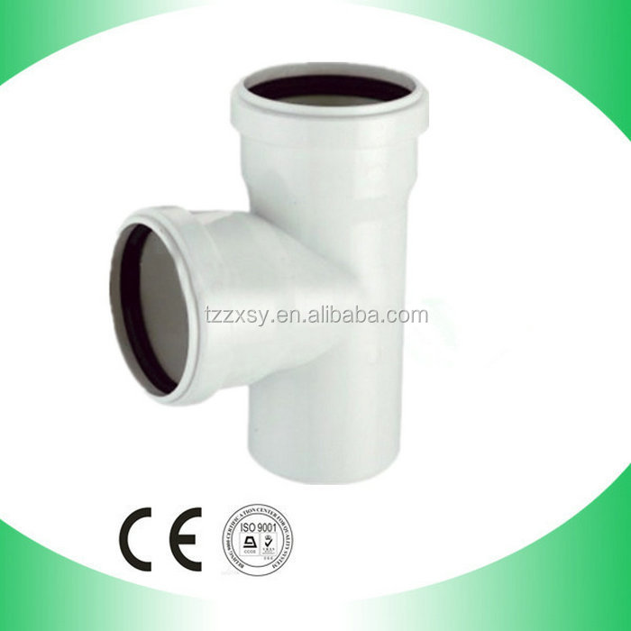 High pressure PVC Reducing Skew Tee With rubber joint