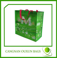 eco friendly laminated pp woven europe tote shopping bags