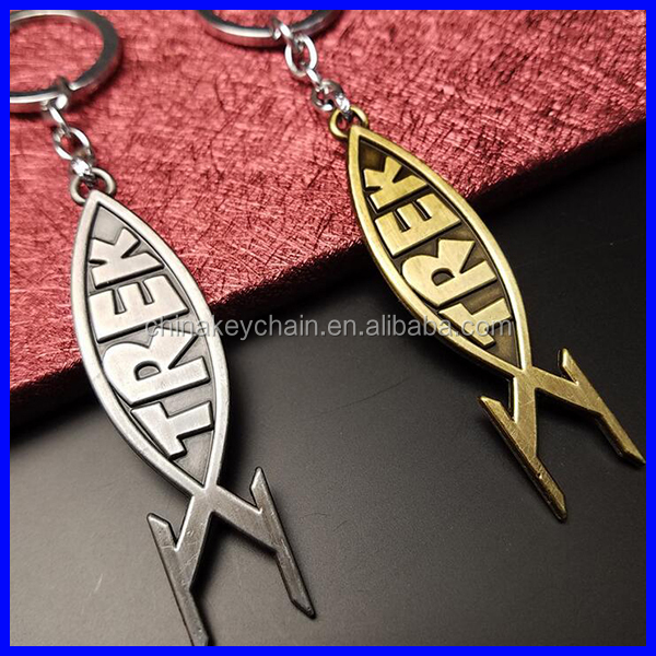 New products Movie zinc alloy star trek Lost In Space keychain for fans