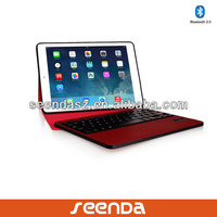 Top sell 2014 bluetooth keyboard cover case with 450mAh rechargeable battery for ipad air/mini