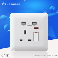 wall switch and socket with 2 USB port