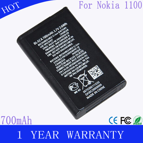 Mobile phone battery for nokia bl-5ca 1100,1101,1110,1110i,1112,1200,1208