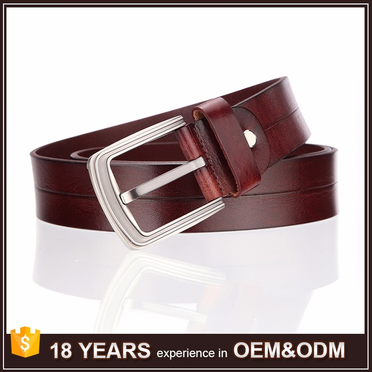 Free Shipping Wholesale Mexican Mens Leather <strong>Belt</strong> with Alloy Pin Buckle