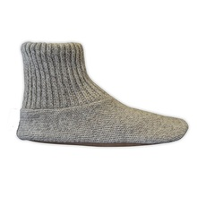 Hand Wash Breathable Unisex House Knitting Slipper With Durable Leather Sole