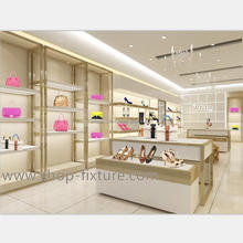 Elegant white clothing display rack with retail boutique shop interior counter design for sale