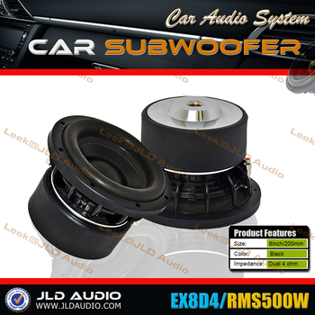 JLD Audio Release RMS500W 8inch High Performance Car Subwoofer
