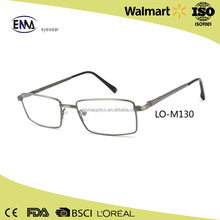 Wholesale Fashion Excellent Metal Eye Glass Man Square Optical Frame