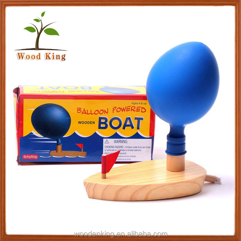 Boat Balloon Child Classic Paddle Children'S Toys Happy Custom Play Kid Water Small Wooden Toy Boat