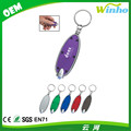 Winho Promotional Oval White LED Keychain Light
