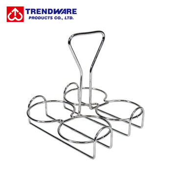 Chrome Plated Oil and Vinegar Cruet Wire Rack