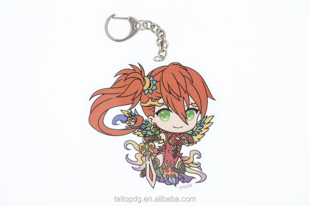 Custom anime/character high quality acrylic keychain
