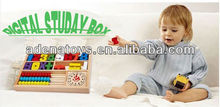 Boy Girl Wooden Digital Study Box Kids Play Toys Baby Learing Toys Computing New