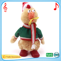 Russian songs adorable dancing and singing chick customized electronic plush baby music toys