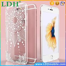 Sexy Lace Pattern Transparent TPU Silicone Case For Iphone 6 6S 4.7 Soft Cover For iPhone 6 6S Plus 5.5 Totem Henna Phone Cases