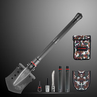 Backpacking Double Fixation Camping Stainless Steel Multifunction Survival Army Tactical Folding Shovel