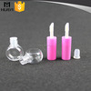 wholesale plastic cosmetic empty lip gloss tube with brush