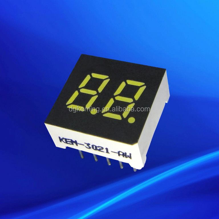 0.3 inch two dual double digit 2 seven segments thru- hole led display sign for bus