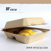wheat straw based compostable disposable take out food containers