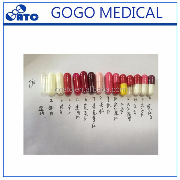 2017 hot selling empty capsules empty gel capsule and empty medicine capsules
