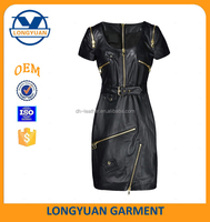 hot new fashion for 2016 motorcycle leather winter cost suit dress
