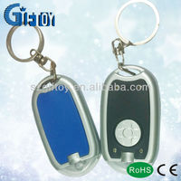 promotional led light keychain in customized logo