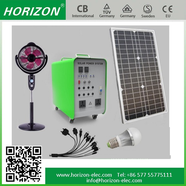 off grid hybrid solar wind power system 100W Panel 65AH Battery 500W Inverter Solar System for Home Lighting TV Computer,Fan