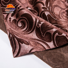 Wholesale thick satin embossed polyester fabric home textile
