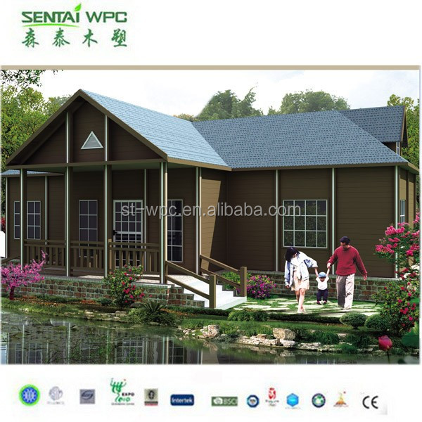 15 years warranty Waterproof and UV resist WPC portable modular homes