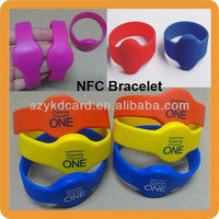 Silicon Waterproof Rfid NFC Wristband Bracelet for Samsung NOKIA HTC LG