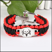 NFL team paracord bracelet, custom paracord bracelet with metal plate logo
