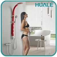 Sanitary ware manufacturer Watermark CUPC wall mounted bathroom massage shower panel with bath and shower faucets