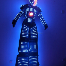 2018 NEW LED David Guetta Kryoman LED Robot suit with LED screen in Chest and Digital LED in helmet 5200026