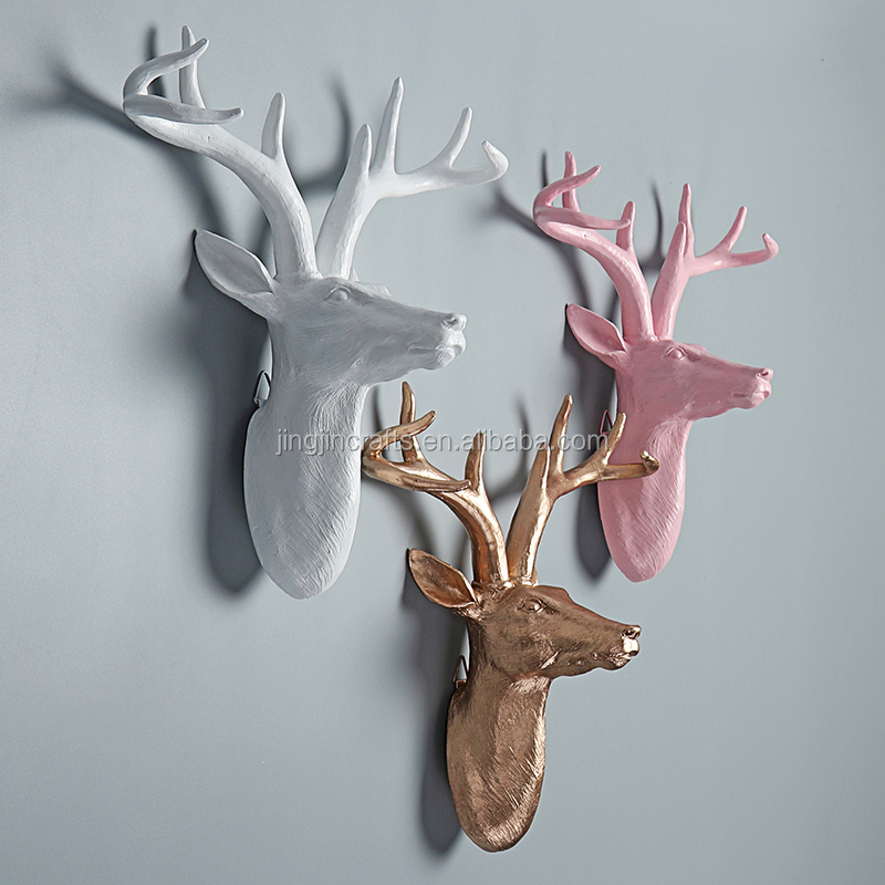 2016 resin animal head/home decoration resin animal head wall decoration
