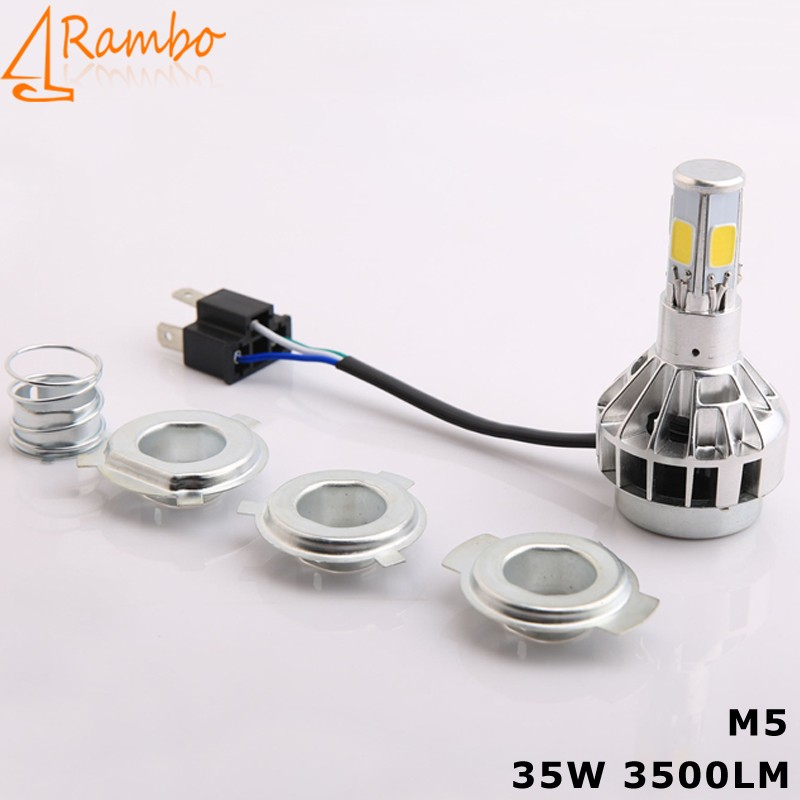 promocion faros led para moto 35W COB luces led 3600LM with 12 months warranty