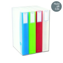 Holds 48 CDs Two-Sided storage binder dvd cd case