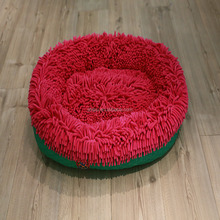 Red Color Mop Cloth Oval Pet Dog Cat Bed Factory OEM