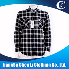 Winter Plaid Long Sleeve Flannel fabric thick Cotton Shirt