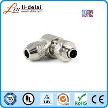 M9 male female cable plug 3pin waterproof connector