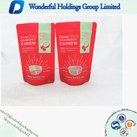 New Products Customized 227g Cranberry Cashew Granola Food Plastic Packaging Bag