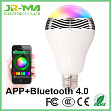 2016 factory direct sale smart play bulb led bulb speaker with bluetooth