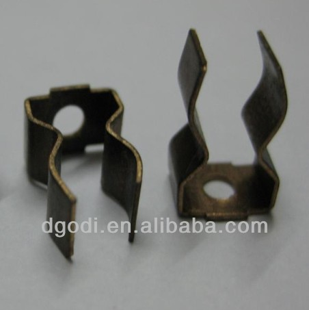 china manufacturing brass copper stamping fuse clip