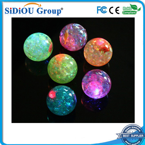 fish led flashing rainbow led bouncing ball
